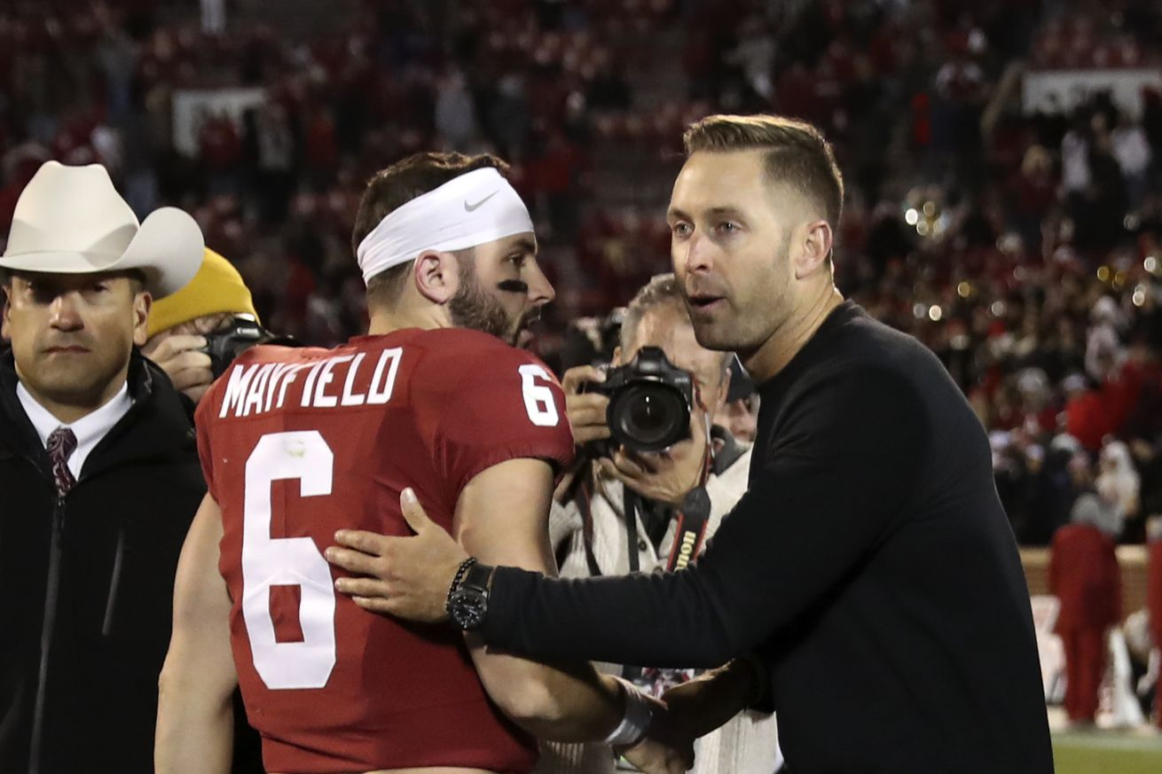usa today 10376673.0 - Baker Mayfield's beef with Kliff Kingsbury could be even better in the NFL
