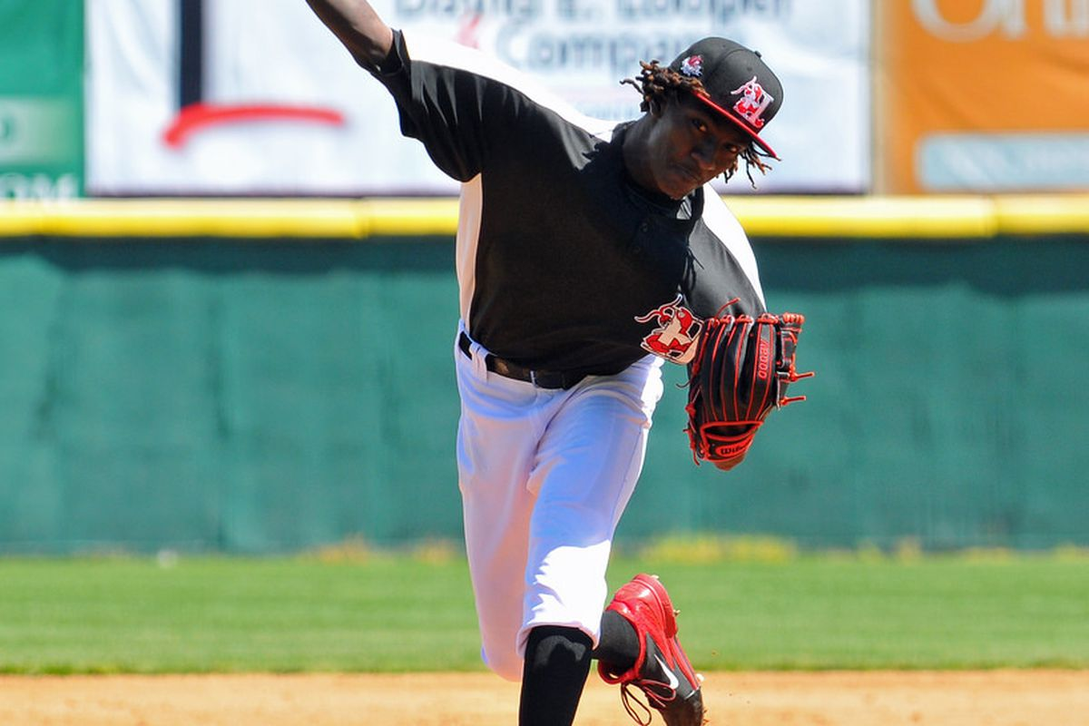 Astros right handed pitcher Akeem Bostick.