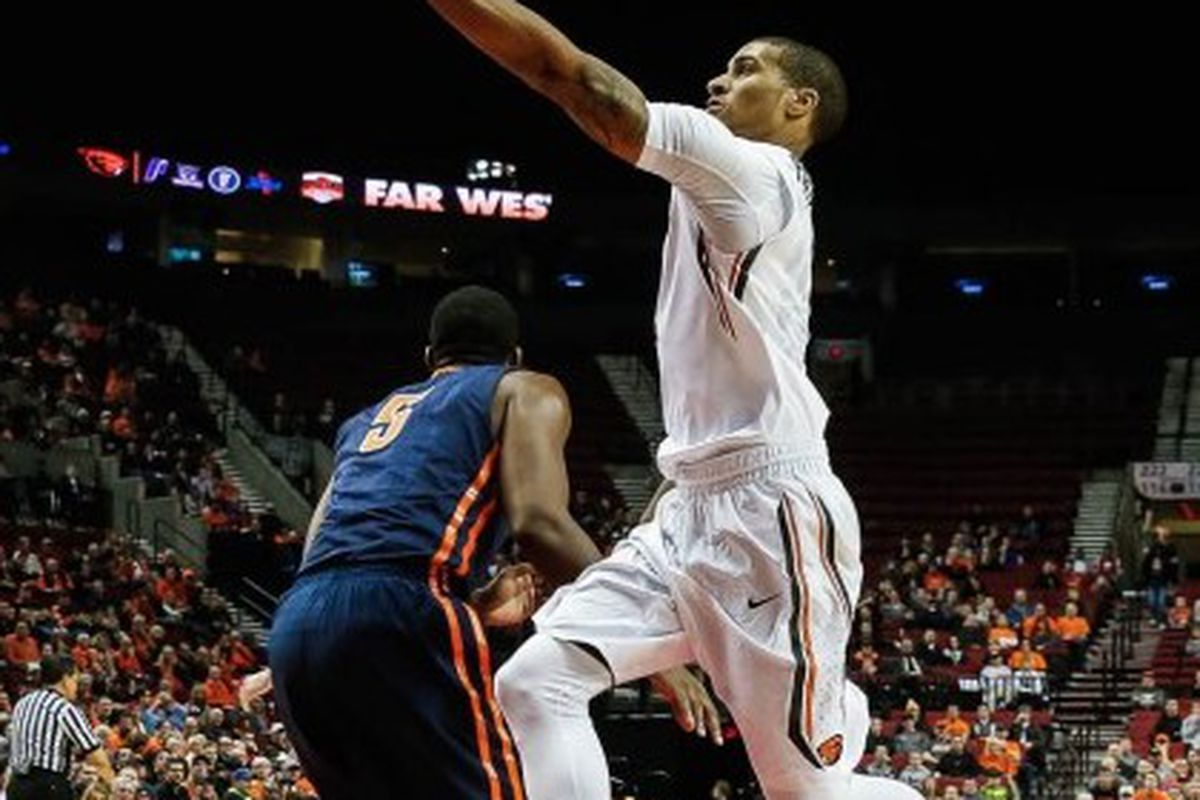 Gary Payton II will look to elevate Oregon State to an NCAA Tournament win today.