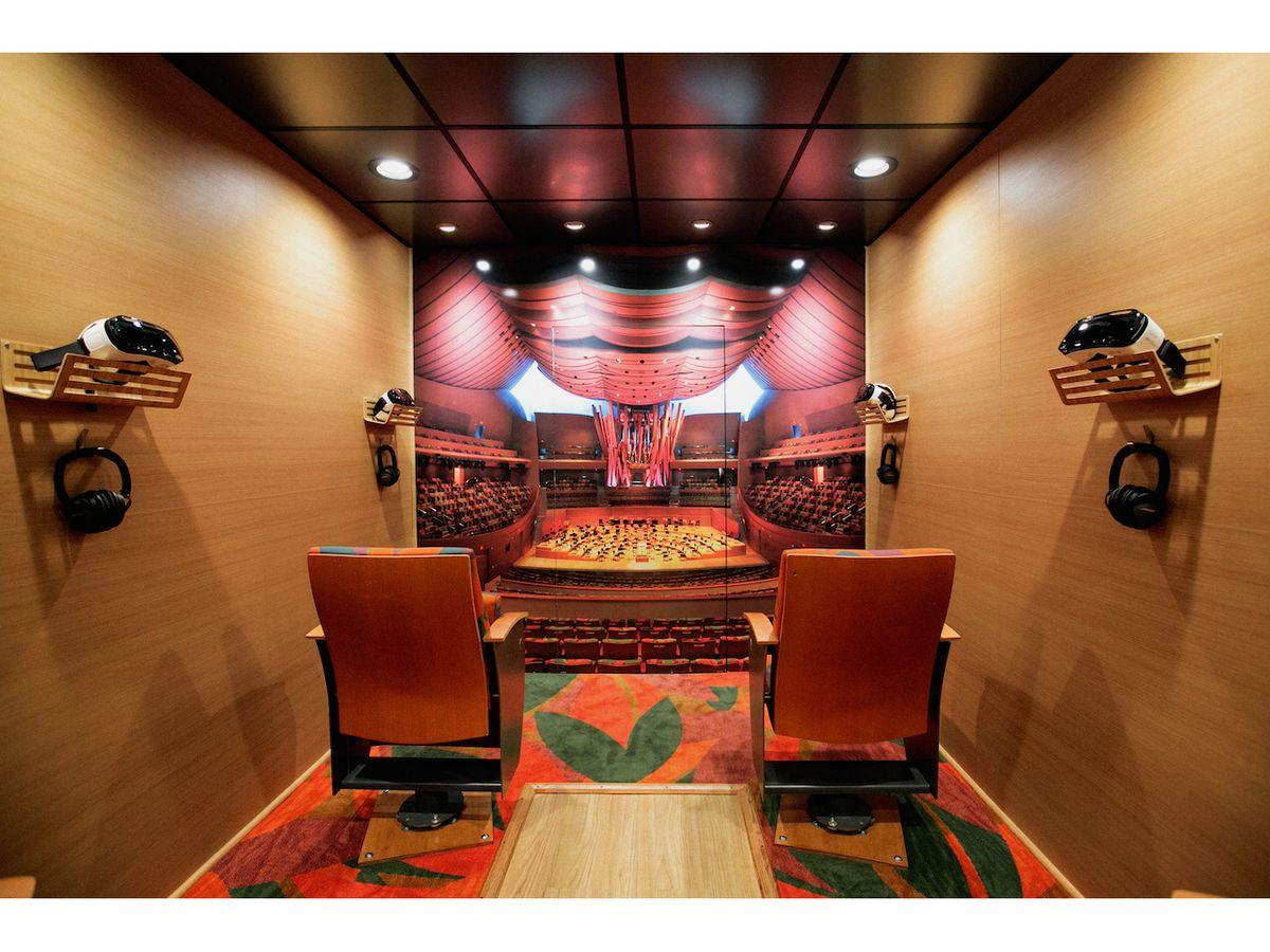 The interior of the Van Beethoven van.