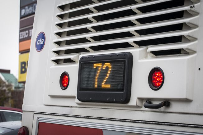 """A CTA rider """"observed the operator"""" of a No. 72 North Avenue bus """"urinating outside the front door of the bus while at a red light."""" 