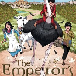 """""""The Emperor's Ostrich"""" is by Julie Berry."""