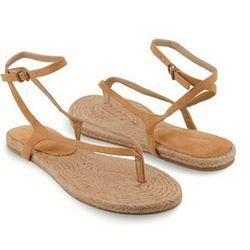 "<a href=""http://www.forever21.com/Product/Product.aspx?BR=f21&Category=shoes_sandalsflipflops&ProductID=2002928461&VariantID=&utm_source=affiliatetraction&utm_medium=cj&utm_campaign=affiliate""> Forever 21 thong espadrille sandals</a>, $19.80 forever21.com"