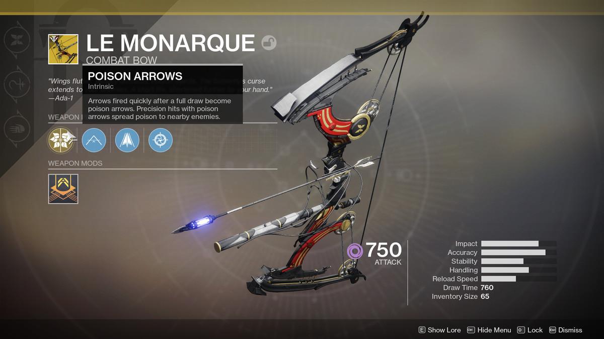 Destiny 2 Le Monarque