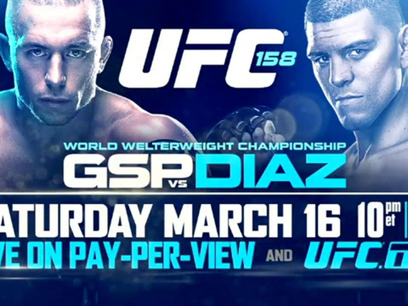 Ufc 158 fight card results betting odds and tickets guia como minar bitcoins for dummies