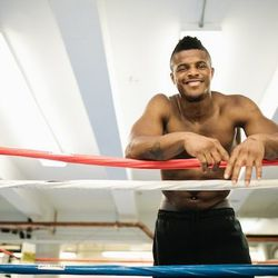 """<a href=""""http://ny.racked.com/archives/2012/08/13/hottest_trainer_contestant_20_hollywood_hino.php""""><b>Hollywood Hino</b></a> of Trinity Boxing and Mendez Boxing. Photo by <a href=""""http://www.bonniebethburke.com/"""">Bonnie Burke</a>"""