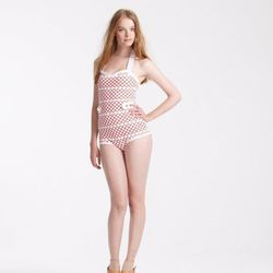 Orla Kiely macrame swimsuit, $164 (was $385)