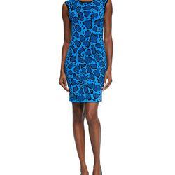 """Leopard-print reversible knit dress, $90 (was $565) via <a href=""""http://www.neimanmarcus.com/Ohne-Titel-Leopard-Print-Reversible-Knit-Dress-Blue-Black/prod177570152/p.prod?ecid=NMALRFeedJ84DHJLQkR4&ci_src=14110925&ci_sku=sku156771146""""> Nieman Marcus </a>"""