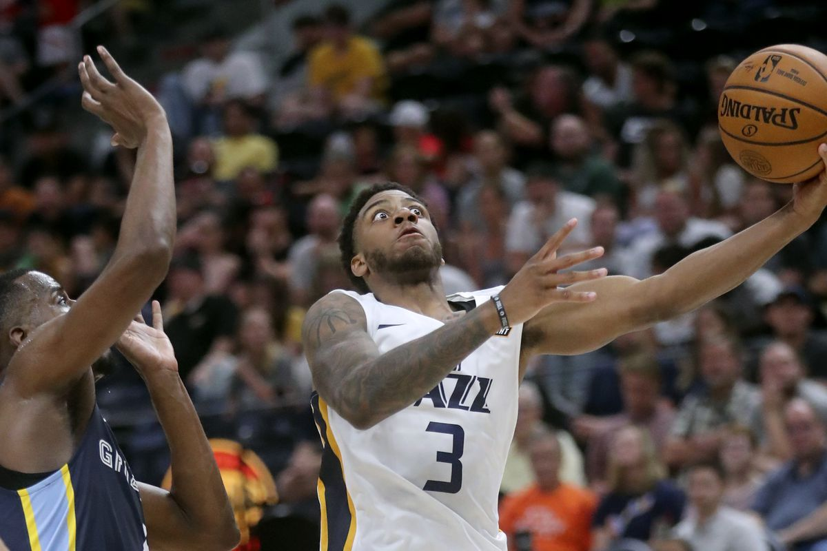 Utah Jazz's Justin Wright-Foreman looks to make a shot in a summer league contest. The summer league returns in August.