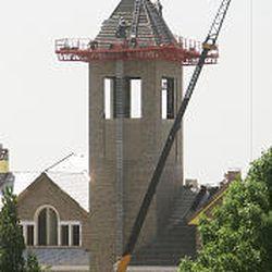 Clock tower rises