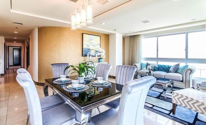 Living room and long corridor