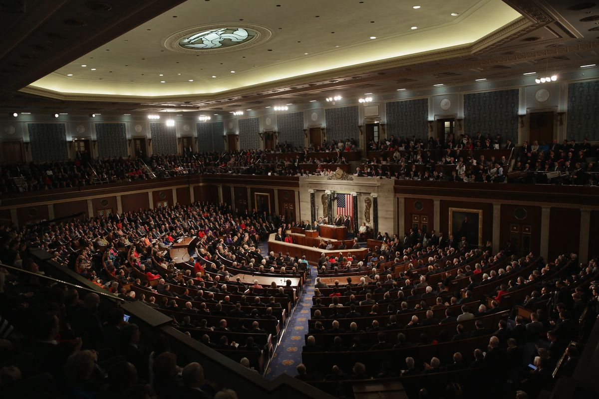 President Obama at Congress, delivering the State of the Union.