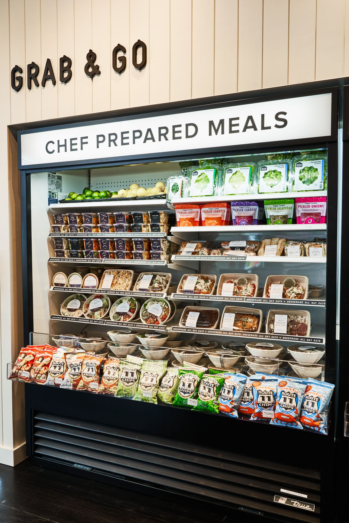Grab-and-go meals and Route 11 Chips from Virginia at Foxtrot's Georgetown store