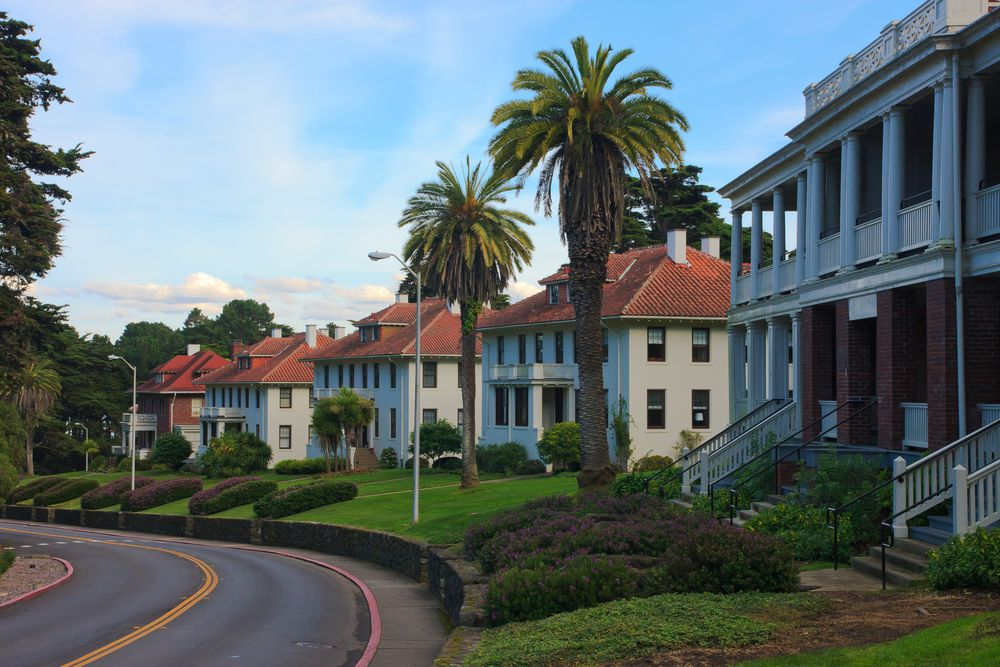 Old homes in the Presidio