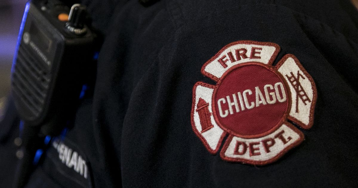 Fire crews worked a blaze at the base of Lake Shore Drive Oct. 7, 2019, on the Chicago River.