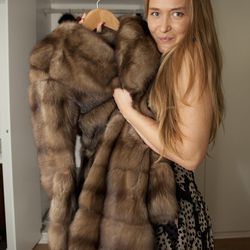"""Dolce & Gabbana Sable fur coat, price unknown. """"I was shocked when my father bought this for me after I graduated. This thing takes responsibility! I have water in a bowl and lavender near it in the closet so moths don't eat it."""""""