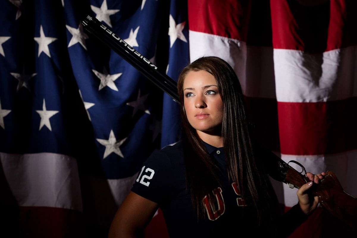 May 14, 2012; Dallas, TX, USA;  Team USA women's shooter Cory Cogdell during a portrait session at the 2012 Team USA Media Summit at the Hilton Anatole. Mandatory Credit: Kevin Jairaj-US PRESSWIRE