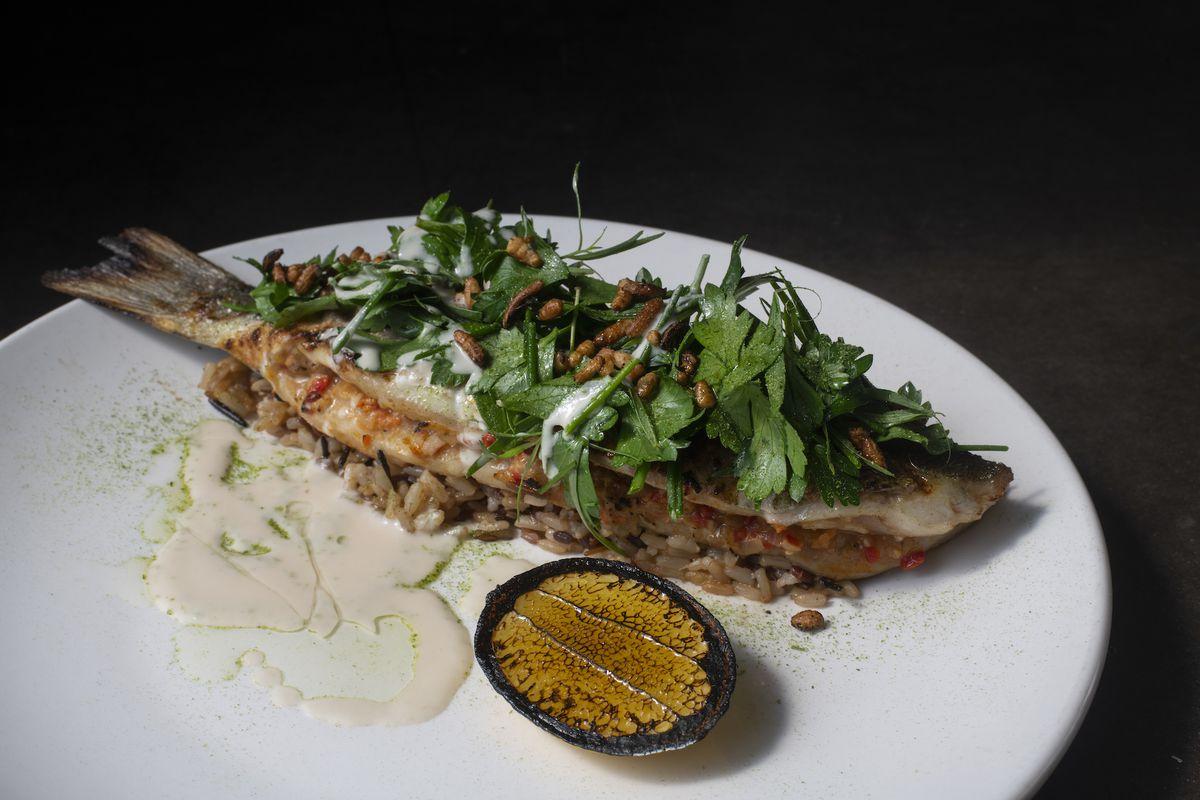 Rockfish amandine from Tribune