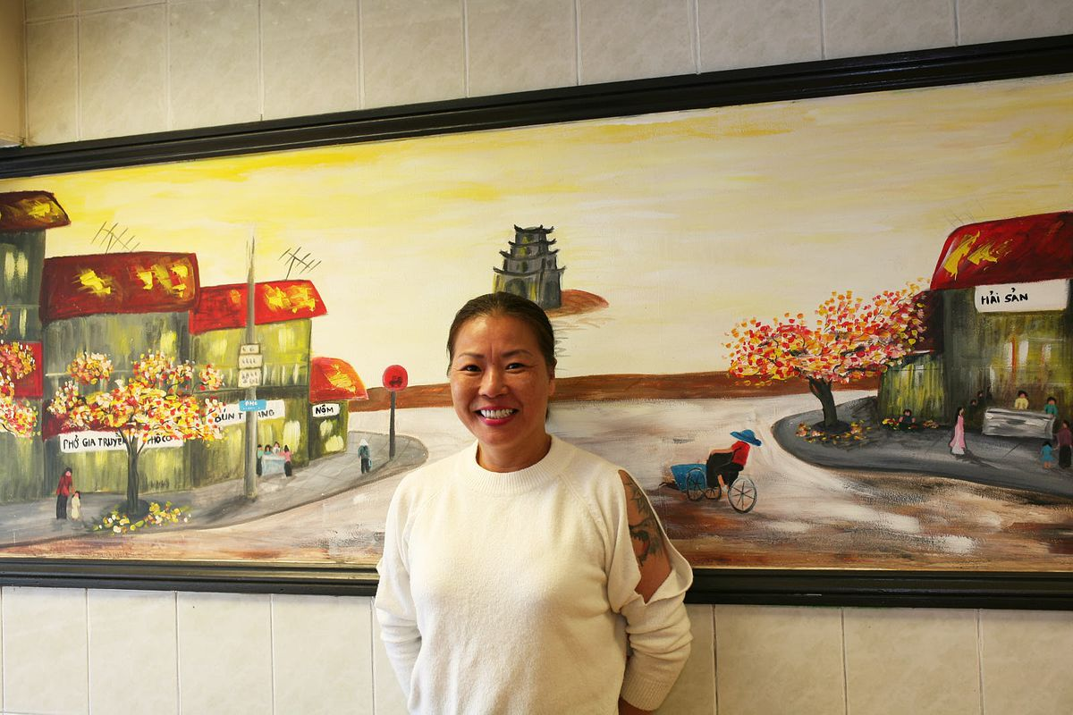 Thuy Nguyen, owner of Pho Thuy Tay, one of the best Vietnamese restaurants in London, Old Kent Road