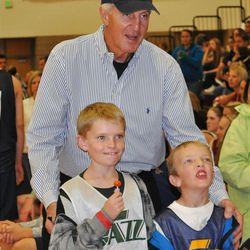 Retired Utah Jazz coach was the honorary coach at Herriman High School on Friday night when the team was introduced to the community.