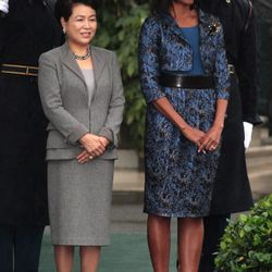 In <b>Chris Benz</b> at the state arrival ceremony for the South Korean President and First Lady on October 13, 2011