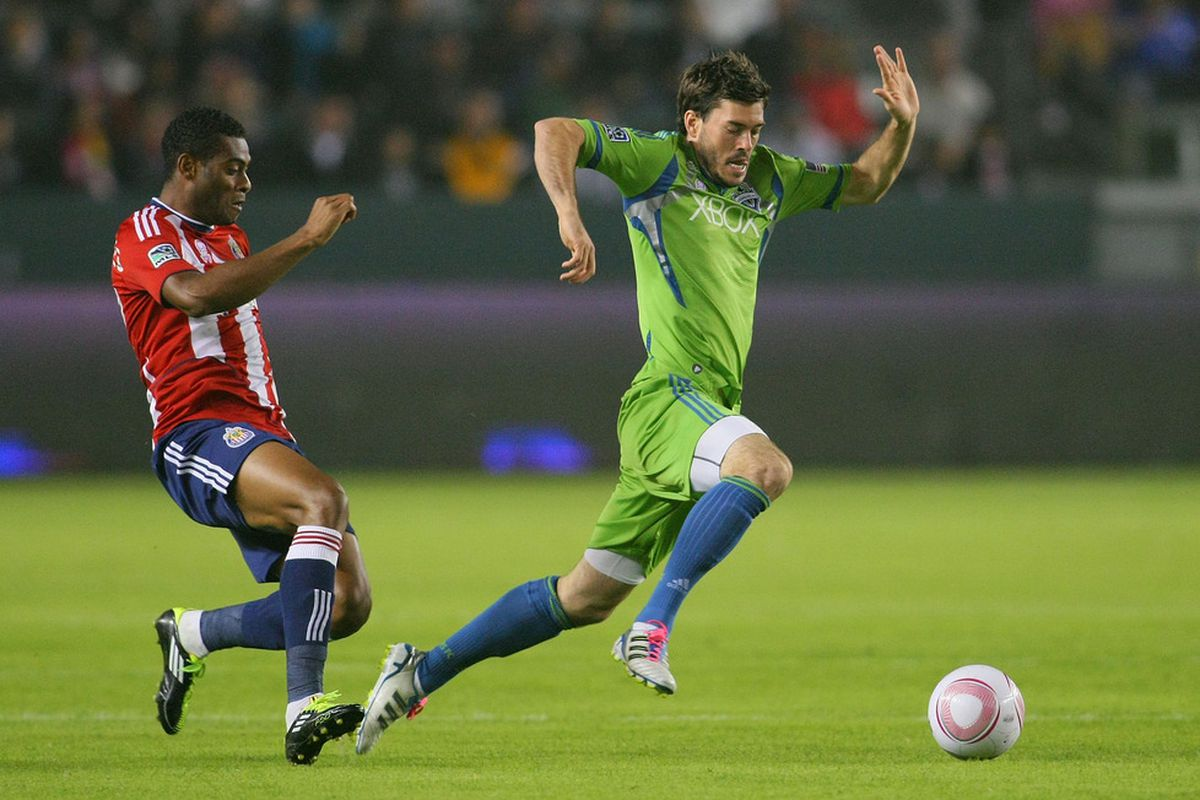 CARSON, CA - OCTOBER 22: Sounders have a good shot of running away from the pack in 2012 (Photo by Victor Decolongon/Getty Images)