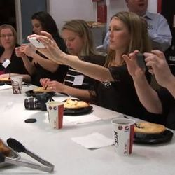 """<a href=""""http://eater.com/archives/2012/02/27/watch-a-bunch-of-bloggers-on-a-junket-at-kfcs-hq.php"""">Watch a Bunch of Bloggers on a Junket at KFC's HQ</a>"""
