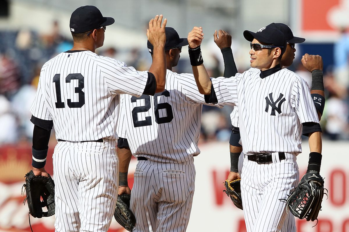 The New York Yankees' lead in the AL East is just one game.  (Photo by Alex Trautwig/Getty Images)