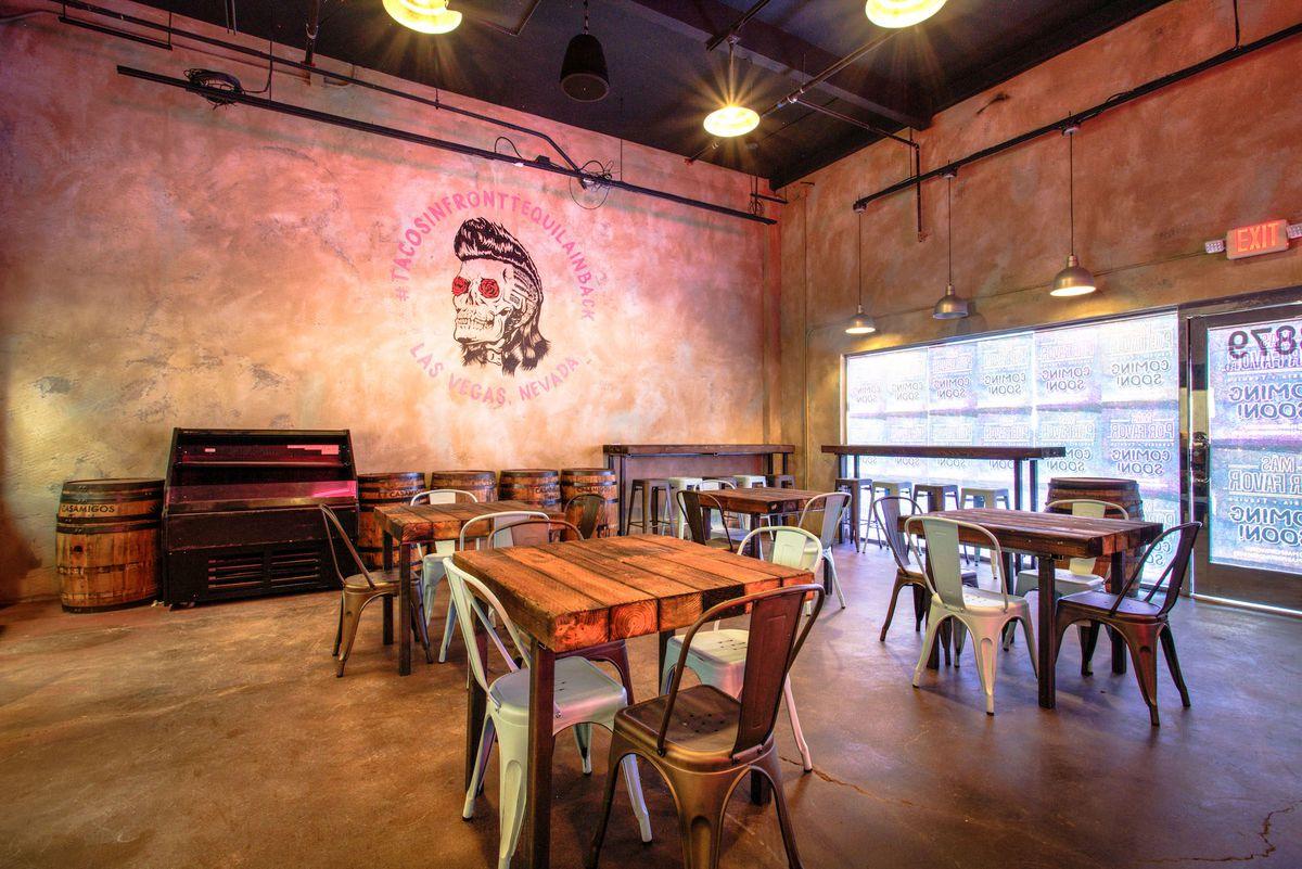The front dining area at Más Por Favor Taqueria y Tequila