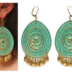 """Brass Earrings by We Dream in Colour, $67 at <a href=""""http://aokiphila.tumblr.com"""">Aoki Boutique</a>."""