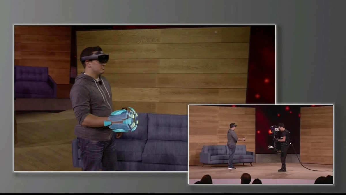 Microsoft Hololens Oct '15 stage demonstration