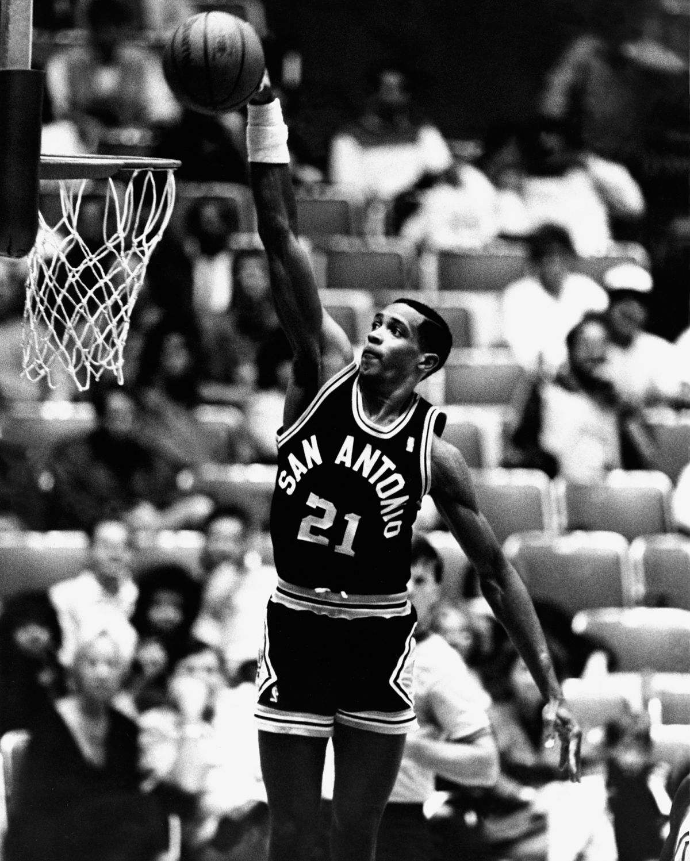 1984: Alvin Robertson #21 of the San Antonio Spurs