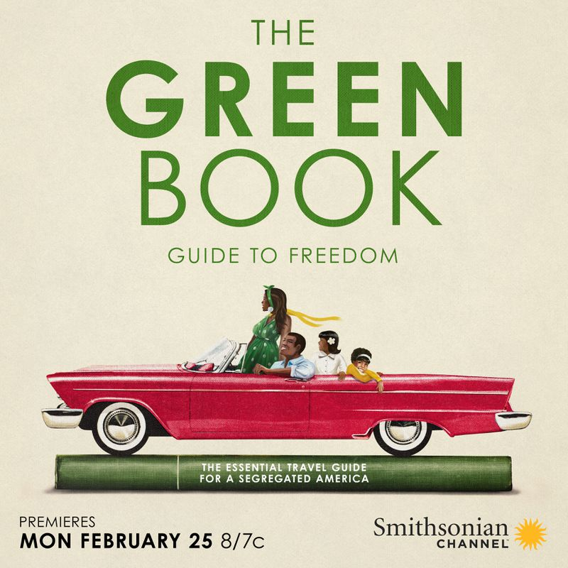 Promotional art for The Green Book: Guide to Freedom documentary.
