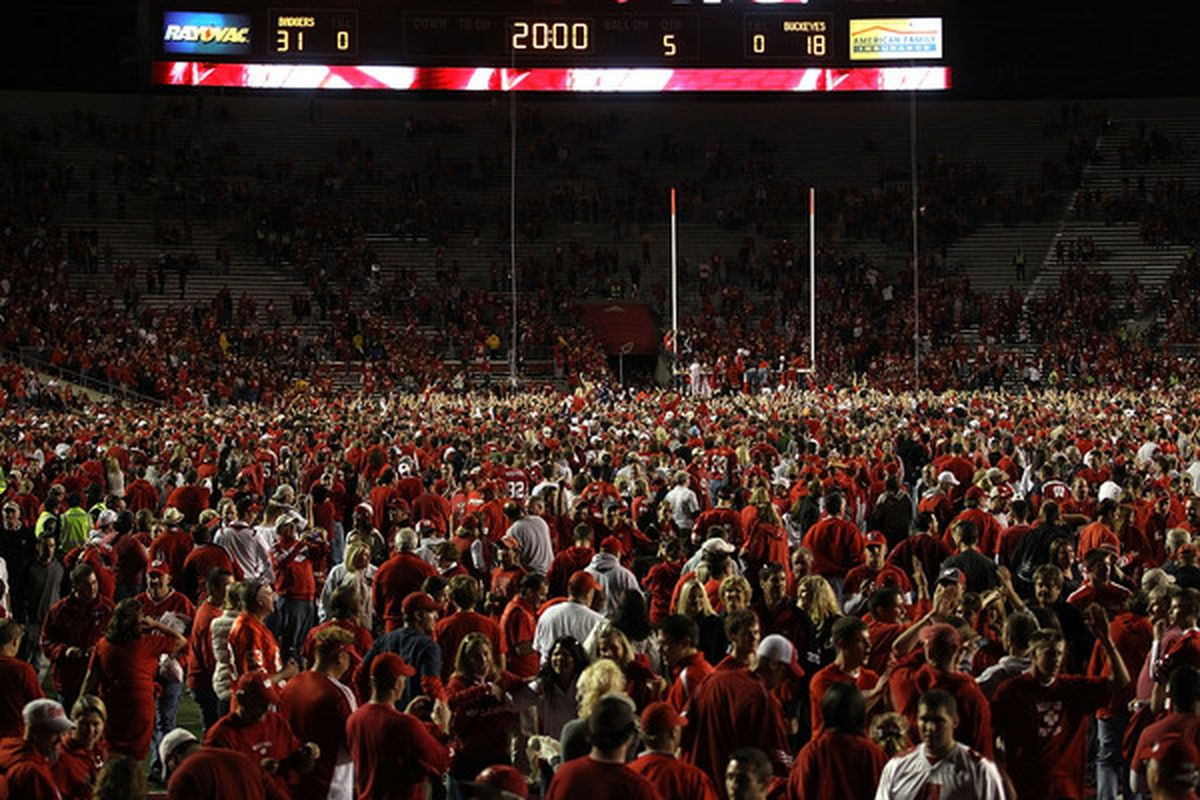 Don't expect to see this scene again in 2012 -- Wisconsin's only primetime home game is against Utah State Sept. 15.