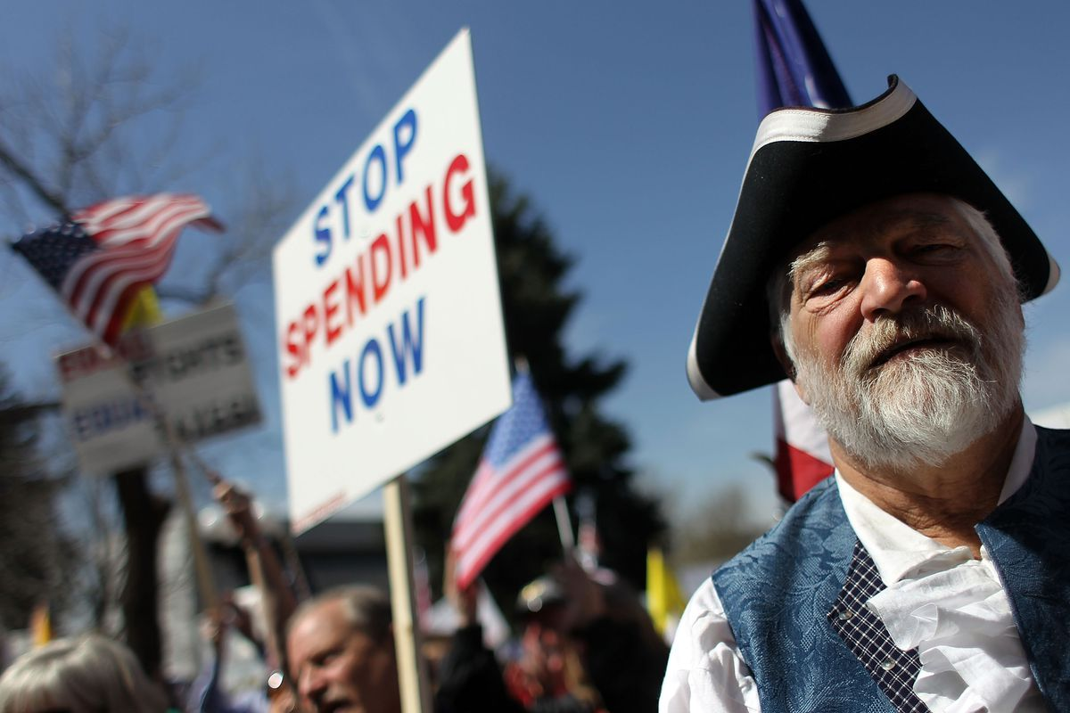 Coloradans Hold Tax Day Tea Party Rallies