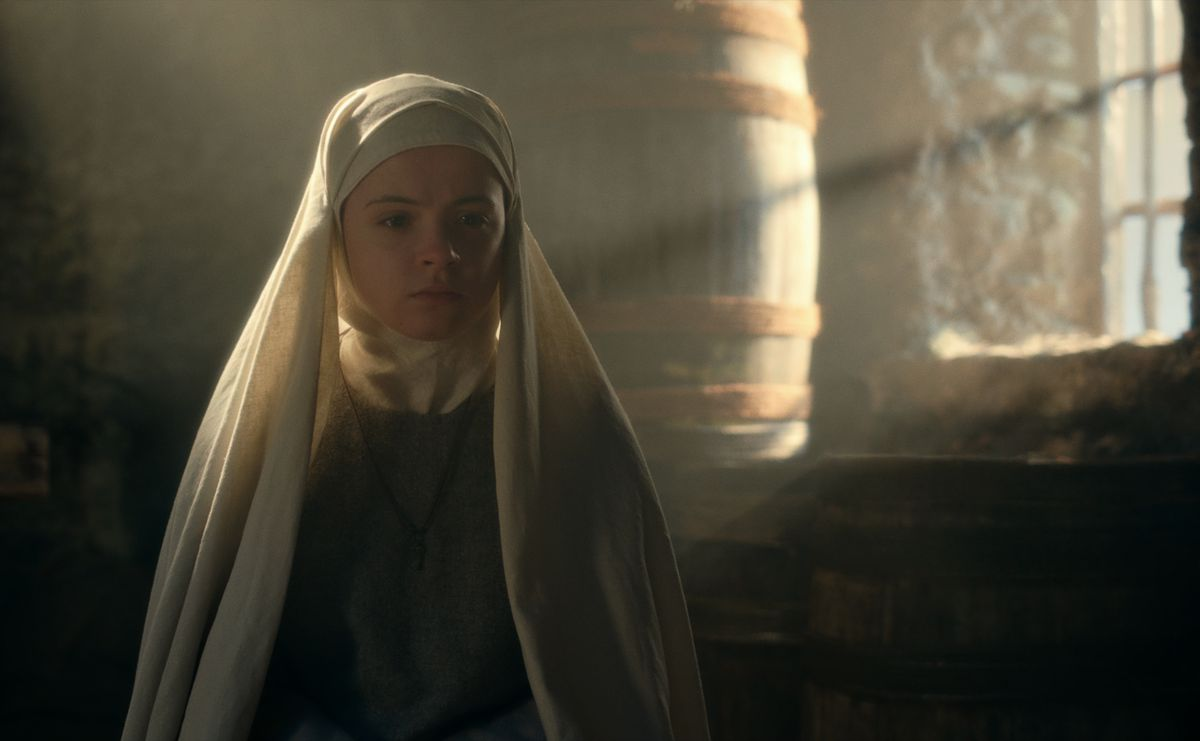 CURSED (L TO R) EMILY COATES as SISTER IRIS in episode 103 of CURSED Cr. Netflix � 2020