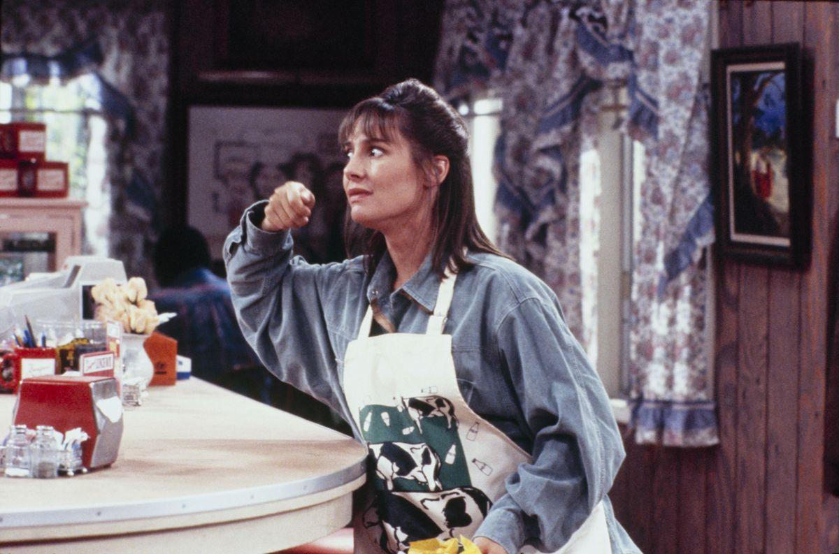Laurie Metcalf as Jackie Harris inside the LanfordLunch Box on Roseanne