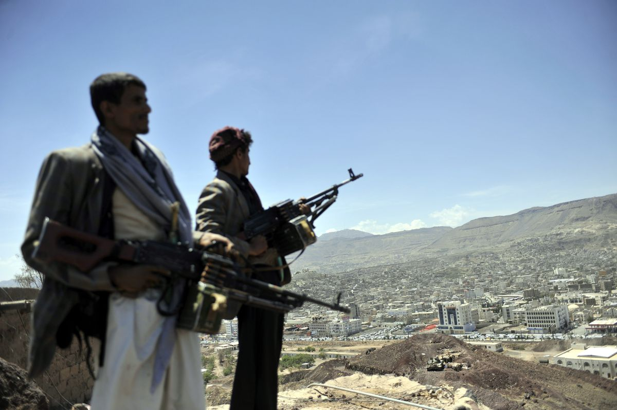 houthi militants in Sanaa