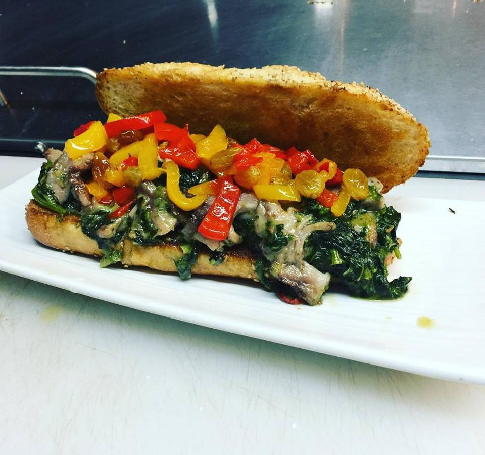 Philly Italian Pork Sandwich With Broccoli Rabe And Sharp Provolone At Somethin Facebook