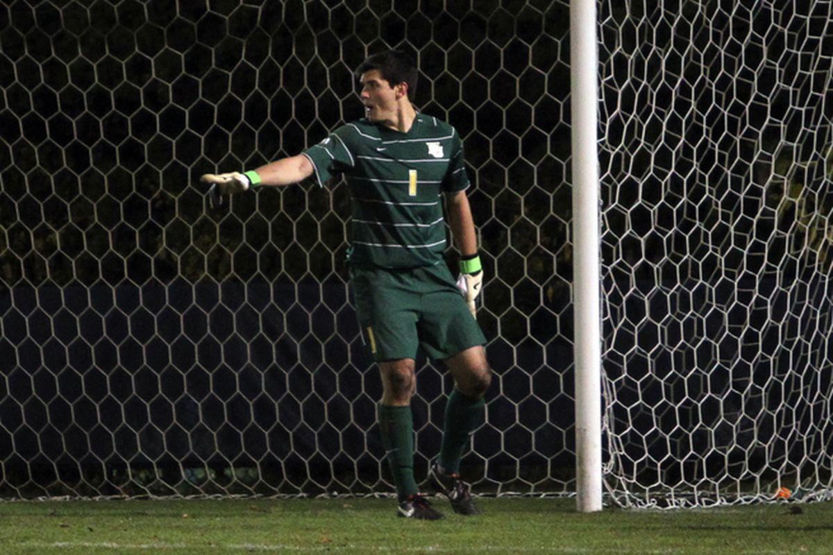 Charlie Lyon directed his defense to preserve his 10th shutout of the season.