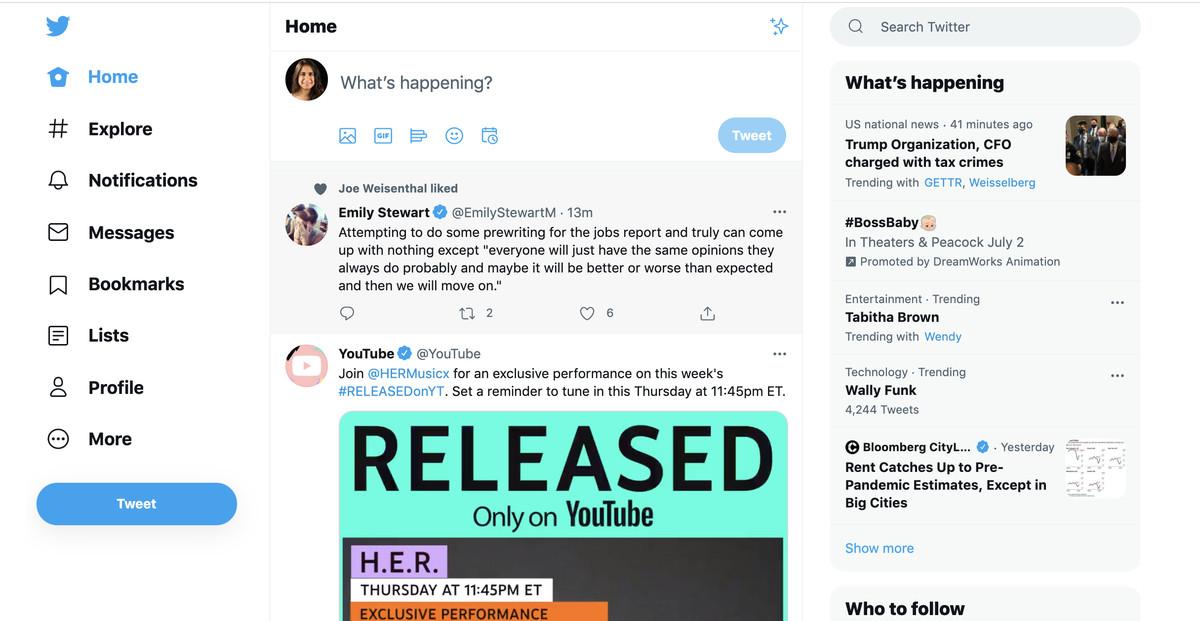 Скриншот целевой страницы Twitter.
