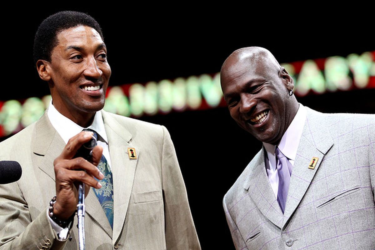 I bet Scottie Pippen won't be smiling at the end of the April 7th game.