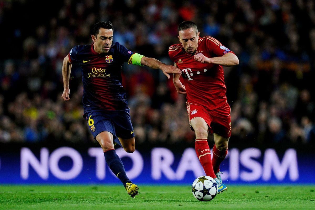 Barcelona Vs Bayern Munich Halftime Score 0 0 Messi Less Barca Failing To Break Down Bayern Sbnation Com