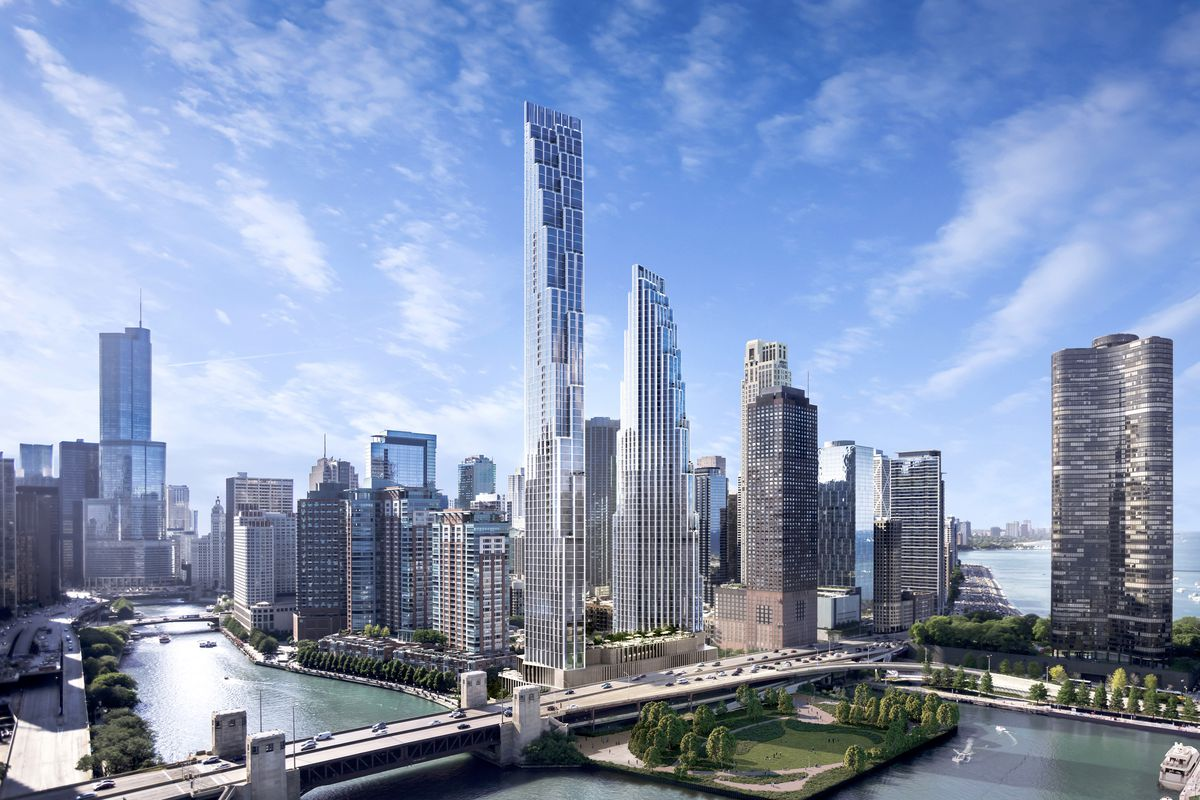 two tower plan for former chicago spire site unveiled curbed chicago