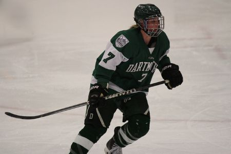 Laura Stacey playing for Dartmouth College Big Green