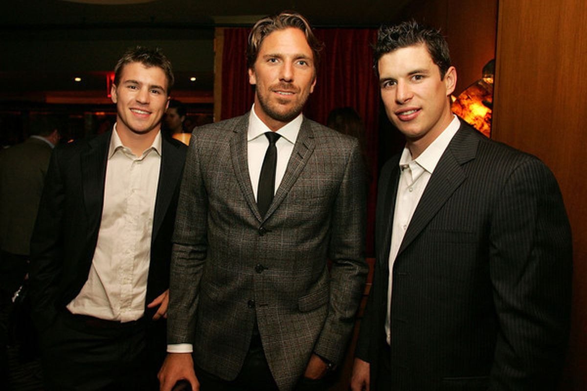 Crap, Crosby recruited Lundqvist to go to the Pens too?  (Photo by Andy Marlin/Getty Images for the NHL)