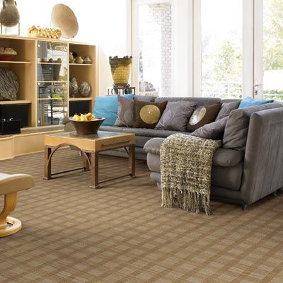 Nylon carpet on living room floor.