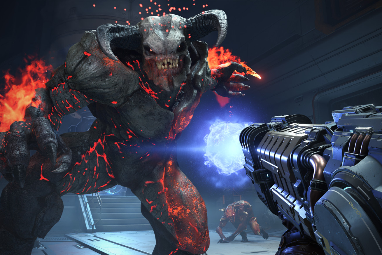 get your first look at doom eternal in new trailer
