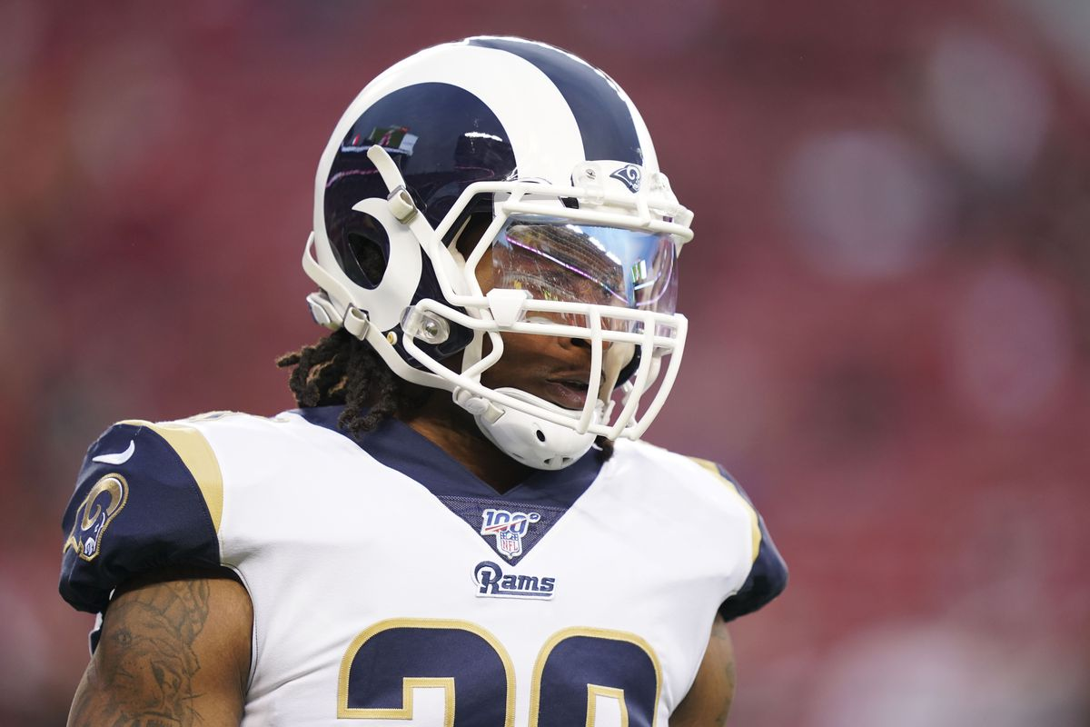 Los Angeles Rams running back Todd Gurley before the game against the San Francisco 49ers at Levi's Stadium.