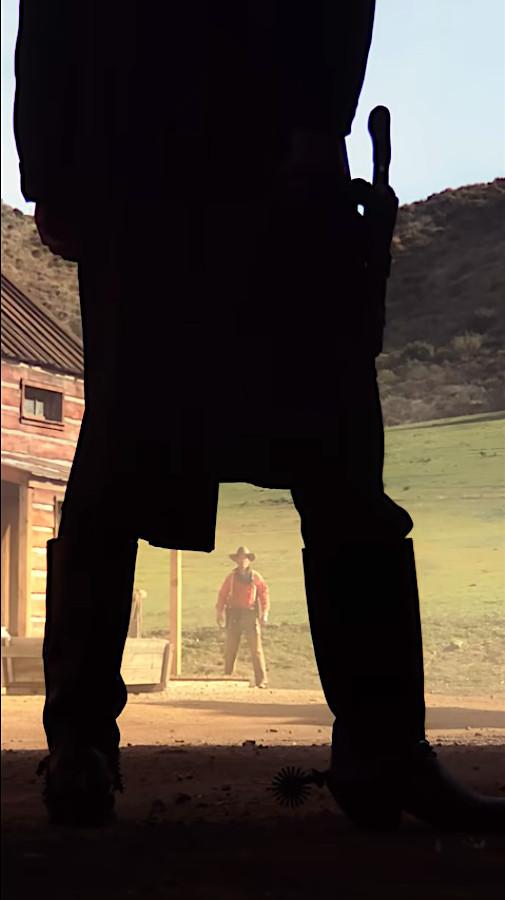 "Two gunslingers face off in Damien Chazelle's ""Vertical Cinema"""